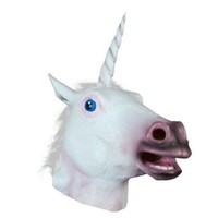 Ace Martial Arts Halloween Adult Unicorn head latex Mask