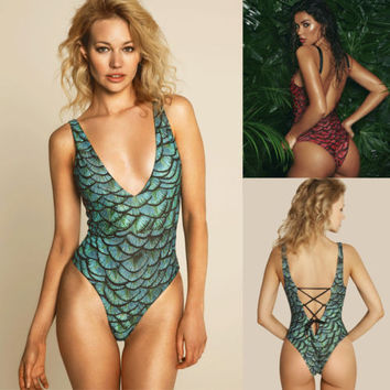 Summer Sexy Mermaid One Piece Swimsuit [11652336783]