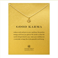 Good Karma Lotus Necklace, Gold Dipped   Dogeared