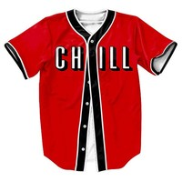 And CHILL Unisex 3d Baseball Jersey