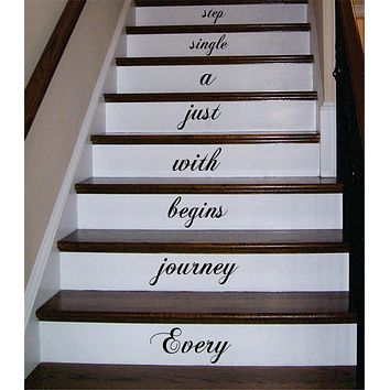 Every Journey Stairs Decor Decal Sticker Wall Vinyl Art