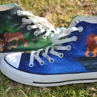Handpainted Lion King Shoes