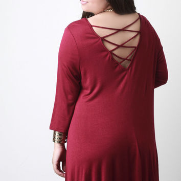 Criss-Cross Back Shift Dress