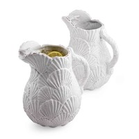Embossed Shell Pitcher | Living | Mud Pie