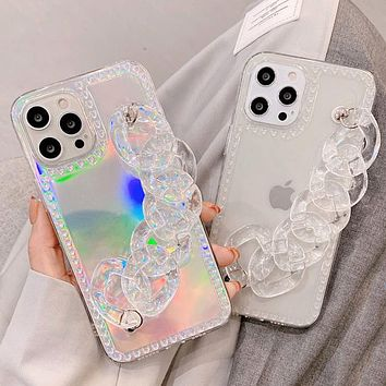 Crystal chain iPhone 12 pro max iPhone 11 mobile phone case