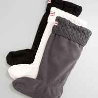 Knit-Cuff Fleece Welly Sock