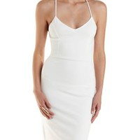Crisscross Back Strappy Bodycon Dress by Charlotte Russe