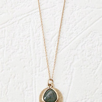 Faux Stone Pendant Necklace