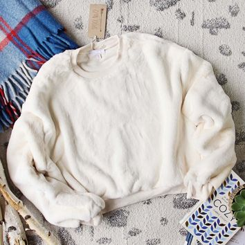 Apres Ski Teddy Sweatshirt in Snow