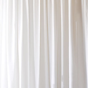 Beautiful New Solid White Custom Made Drapery Storefront Window Treatment Display Idea Flocked Velvet Curtain Panel 108 inch High Long Panel