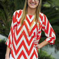 EVERLY: Joy For Chevron Top: Clementine | Hope's