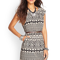 Tribal-Inspired Fit & Flare Dress