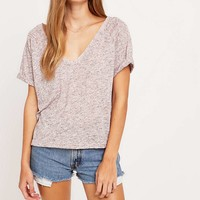 BDG Loose Fit V-Neck Tee - Urban Outfitters