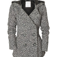 Aeropostale  Herringbone Hooded Pea Coat