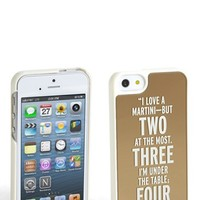 kate spade new york 'I Love a Martini — But Two at the Most. Three I'm Under the Table; Four I'm Under the Host' iPhone 5 & 5S case | Nordstrom