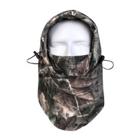 Outdoor Anti-cold Warm Hat Men Women Cycling Ski Masks Camouflage Fleece Hooded Caps  TIML66