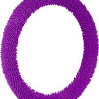 Bell Automotive 22-1-53304-1 Shaggy Purple Steering Wheel Cover