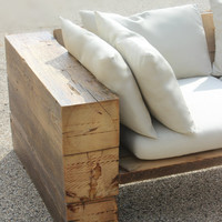 Rustic Sofa, Couch, Sectional,  Reclaimed Wood, Indoor/Outdoor, Free Shipping!