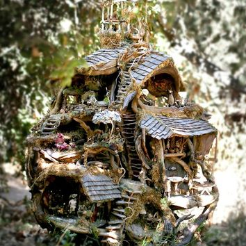 Print, The Fairy Treehouse in the Forest