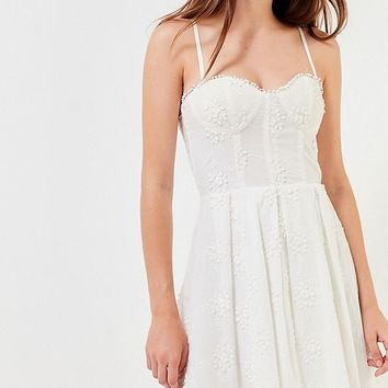Del Ra Embroidered Floral Busiter Dress | Urban Outfitters