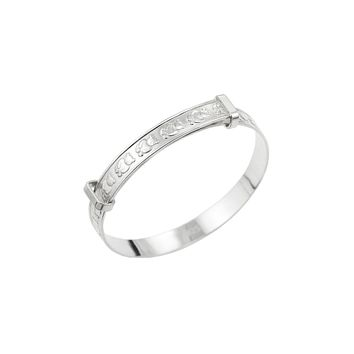 Baby's Expandable Bangle for Christening, Baptism, Baby Shower Present - STERLING SILVER