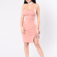 Wearing What You Think Dress - Mauve
