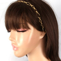 Headband - Gold Chain Link