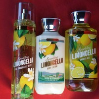 3 SET Bath & Body Works SPARKLING LIMONCELLO Gel - Lotion - Mist