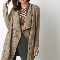Eyelet Pattern Knit Cardigan
