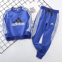 Adidas Girls Boys Children Baby Toddler Kids Child Fashion Casual Top Sweater Pullover Pants Trousers Set Two-Piece