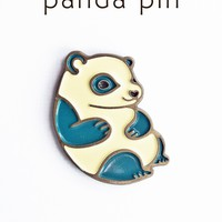 Panda enamel pin - panda bear pin - panda pin - lapel pin by boygirlparty