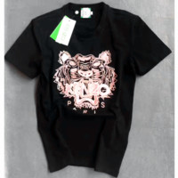 """""""KENZO"""" Unisex Casual Embroidery Short Sleeve Shirt  Tee Top Blouse   G-A-GHSY"""