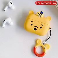 Cartoon cute  - Protective Case Cover Compatible with the Apple AirPods Pro Wireless Headphones