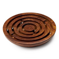 WOODEN LABYRINTH GAME   Marble Maze Puzzle   UncommonGoods