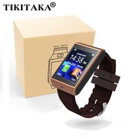 Bluetooth Smart Watch Wrist Clock Sync Notifier Support SMI/TF for iphone Android Samsung S5/S6/Note2/3 Smartphones Smartwatch