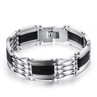 Stainless Steel with Silicone Bracelet