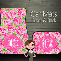 Custom Personalized & Monogrammed Car Floor Mats, Lily Pulitzer inspired