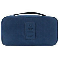 Navy Blue Water Proof Cosmetic Portable Bag