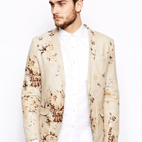 Selected Blazer With Floral Print