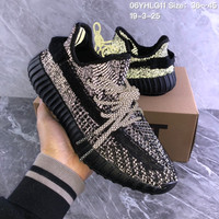 HCXX 19July 238 Adidas Yeezy Boost 350V2 3M Reflecive Flyknit Insole Running Shoes