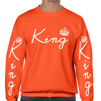 King with crown men sweatshirt