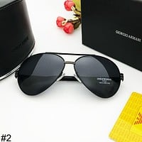 Giorgio Armani 2018 new big box simple men driving driver polarized sunglasses #2