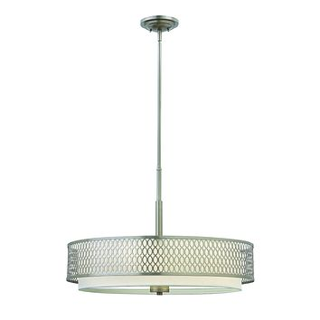 """26""""W Jules 3-Light Inverted Pendant in Brushed Nickel*"""