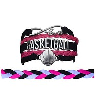 Basketball Jewelry Set For Girls (Bracelet & Headband)