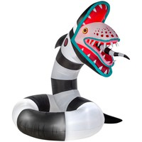 Gemmy 10 ft. Pre-Lit Inflatable Animated Sand Worm from Beetlejuice Airblown-220930 - The Home Depot