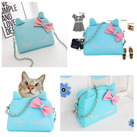 Female Trends 2015 summer styles fresh cat's head with a single diagonal shoulder women's bag