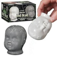 Accoutrements Creepy Doll Head Salt and Pepper Shakers