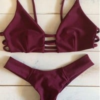 Bandage Bikini Set Bathing Suits + Free Gift Summer Necklace