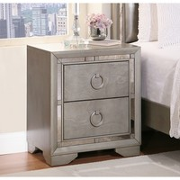 Abbyson Living Valentino Mirrored 2-drawer Nightstand | Overstock.com Shopping - The Best Deals on Nightstands