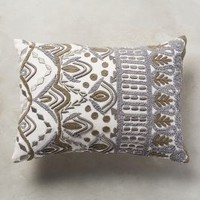 Textured Ivory Pillow by Anthropologie